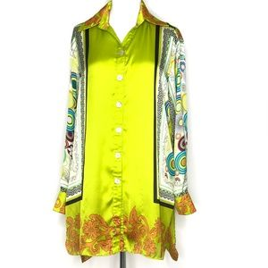 Vipavadee Yellow Green Summer Print Tunic A140356